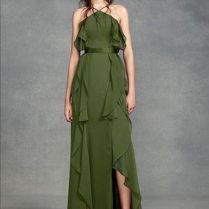 White by Vera Wang Bridesmaid dress olive